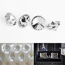 CLE DE TOUS - 20pcs Paquete de Botones de cristal Rhinestone Decoración Accesorio Para PU Cuero Cabecera cama Sofá 25mm