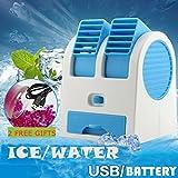 Toamen Portable Mini USB Fan, Rechargeable Air Conditioner Cooler For Outdoor Desktop