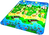 LOOMANTHA miles to go. 100% Waterproof, Anti-Skid, Double Sided Baby Play & Crawl Mat (6 feet x 4 feet) with a Free Carry Bag