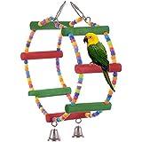 ZAOTE colorido escalera pájaro juguete Parrot Swings juguetes de jaula