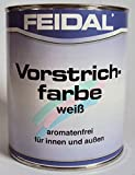 Feidal Vorstrichfarbe Weiss, lösemittelhaltig, für Innen und Außen, 2,5 Liter
