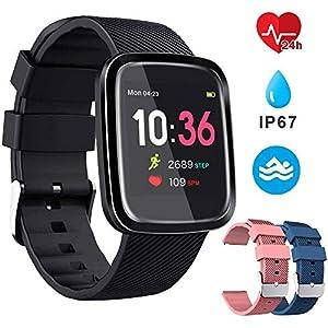 EUMI Smartwatch, Reloj Inteligente con IP67, Pulsera Actividad Inteligente Batería 10-15 días 1.3'' a Color 8… 10