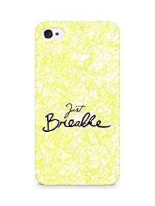 AMEZ just breathe Back Cover For Apple iPhone 4