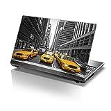 TaylorHe Laptop Skin Pegatina de vinilo Adhesivo para portátiles 15,6' 15' (38cm x 25,5cm) Productos de Gran Bretaña New York TAXIS