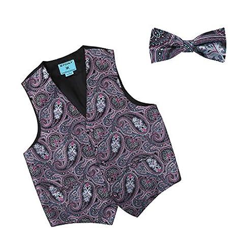 EGE2B03C-XL Lila Blau Economics F¨¹r Kleid Paisley Microfiber Tuxedo Weste Vorgebundene Fliege Set Elegantes Design von Epoint