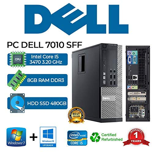 PC DELL 7010 SFF Intel Core i5 3470 3.20Ghz/RAM 8GB/480GB...