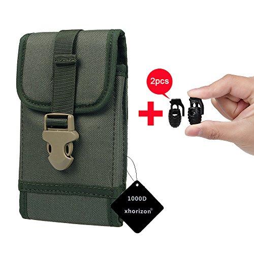 xhorizon(TM)MW8 1000D NylonArmee Camo TouchDienstTactical MOLLE UniversalMultifunktionsgürteltasche Holster für Multi Handy Modell #A2 Armee Grün