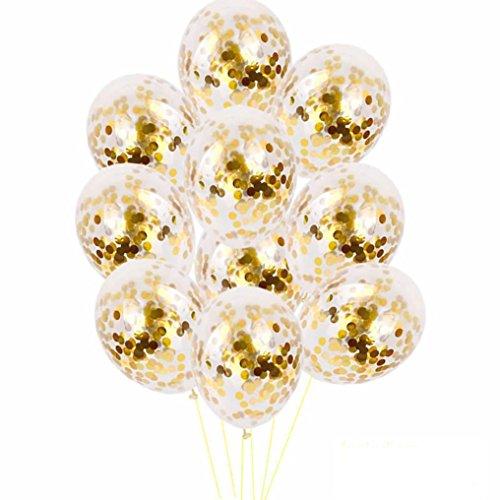 Covermason 10 Pcs 12 inch Latex Ballons Party Ballons Hochzeit Dekorationen Gefleckter Ballon (A)