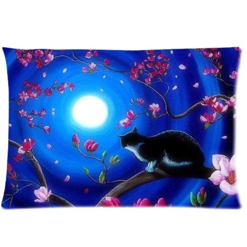 m Baum unter Moonlight Twin Seiten Print Home Decor Kissenbezüge (College-halloween-kostüme Diy)