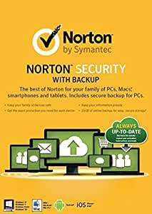 Norton Security With Backup 2.0 25GB: 1 User, 10 Devices [2015] (PC/Mac/iOS/Android)
