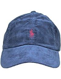 Ralph Lauren Casquette en Velour Bleu Marine Logo Rouge Bordeaux Homme 087591571b0