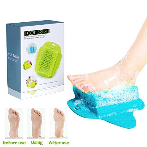 cenblue Professionelle Fuß, Scrubber Massage Waschmaschine Pinsel–Relax Fuß Peeling Reinigung Spa Beauty Bürste für Dusche Badezimmer mit Saugnäpfe