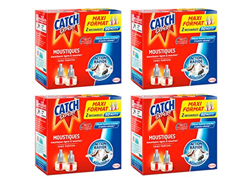 Catch Recharges Diffuseur Electrique Liquide Maxi Format - Lot de 4 - 90 Nuits