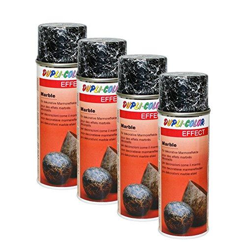 4X DUPLI-Color Marble WEIß Marmor-Look Innen Aussen Holz Metall Glas Stein 200