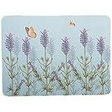 Creative Tops Kew Gardens - Mantel individual (base de corcho, esquinas redondeadas), diseño de lavanda, color plateado