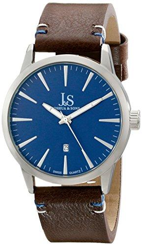 Joshua & Sons JS86SSBU - Reloj de Cuarzo para Hombres, Color marrón