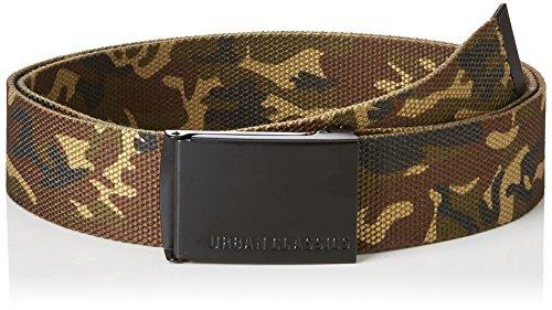 Urban Classics Unisex Canvas Belts Gürtel, woodcamo/blk, one size