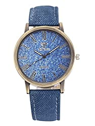 Big Tree Casual Analogue Blue Dial Blue Denim Leather Belt Mens & Womens Unisex Watch - W1243BU
