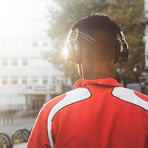 COWCOWIN E7 Kabellose Bluetooth Kopfhörer Over Ear Wireless Headphones mit Mikrofon, schwarz - 6