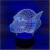 Zlxzlx 3D Led 7 Cambia Colore Luminoso Testa Di Gorilla Modellazione Apparecchio Di Illuminazione Usb Animal Night Lights Lampada Da Scrivania Creativa Per Bambini