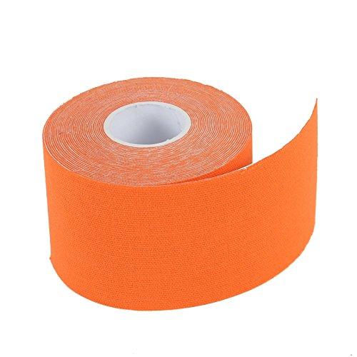 2-TECH Hautfreundliches Kinesiologie Tape 5 cm x 5 Meter in Orange für elastische Tapeverbände