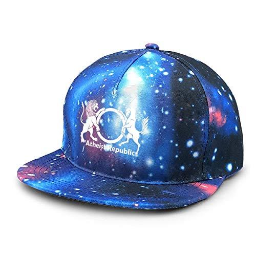 Ruajlt Atheist Republic Symbol Starry Sky Hat Baseball Starry Hat Rap Hip Hop Dad Caps