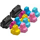 12kompatible Nr. 363Triple Kapazität Tintenpatronen für HP Photosmart Drucker, 45ml Schwarz, 18ml in Farben