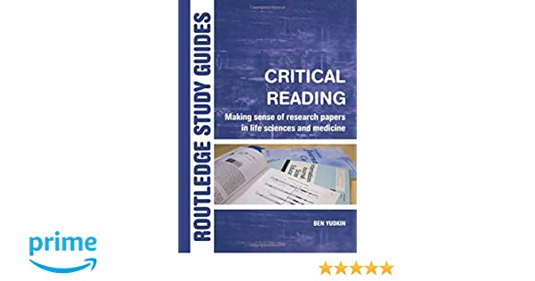 critical reading research paper