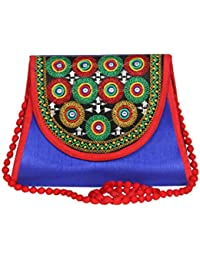 Streetkart Women's & Girl's Traditional Kutchi Art Work Sling Bag/Fashionable Sling Bag For Women/Stylish Polyester...