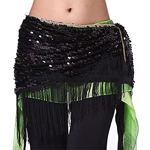 Dance Accessories Costume Belly Dance Hip Scarf Skirt Triangle Sequins