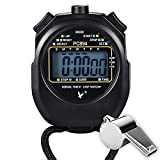 Paxcoo Sport Stopwatch with Stainless Steel Whistle