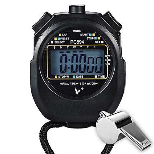 Paxcoo Sport Cronometro con acciaio inox fischio