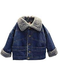 Toddler Kids Baby Boy Girl Denim Jacket Children's Autumn Winter Fashion Warm Coat Outwear Suitable for 1-5 Years Babys