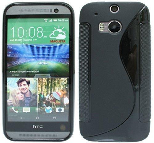 S Line TPU Custodia Protettiva per HTC One (M8) Silicone Custodia in Nero @ Energmix