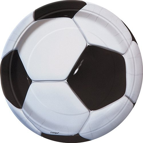 Unique 27304 Fußball Motiv Pappteller, 8 Stück