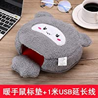 Computer Anti-Freeze USB Hand Warm Mouse pad with Heating and Thickening