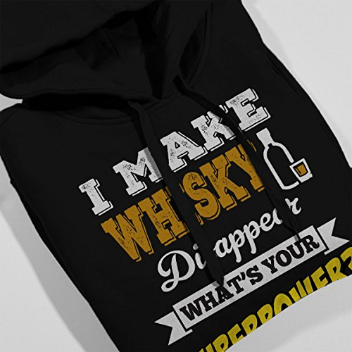 I Make Whisky Disappear Whats Your Superpower Men's Hooded Sweatshirt Black