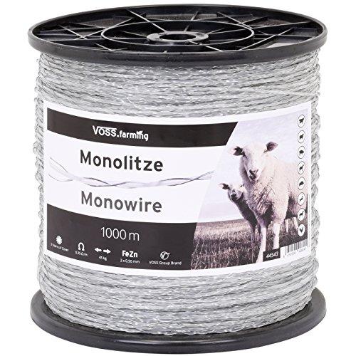 Monolitze Polydraht Transparent - Länge wählbar - für Weidezaun Litze Elektrozaun - Besonders Geeignet für Lange und schwierige Einzäunungen - für Schaf Rind und Ziege