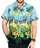 La Leela le bouton de aloha hawaïen hommes manches courtes ...