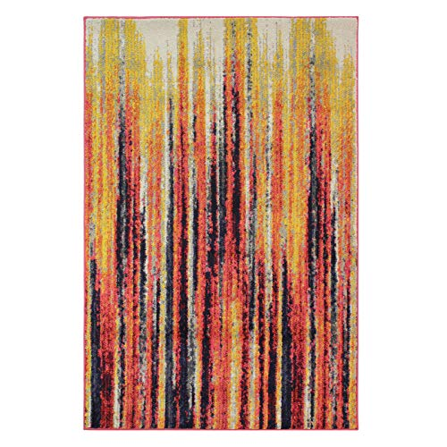 Flair Rugs Teppich strahlend Streifen Moderner Teppich, Multi, 120 x 170 cm -