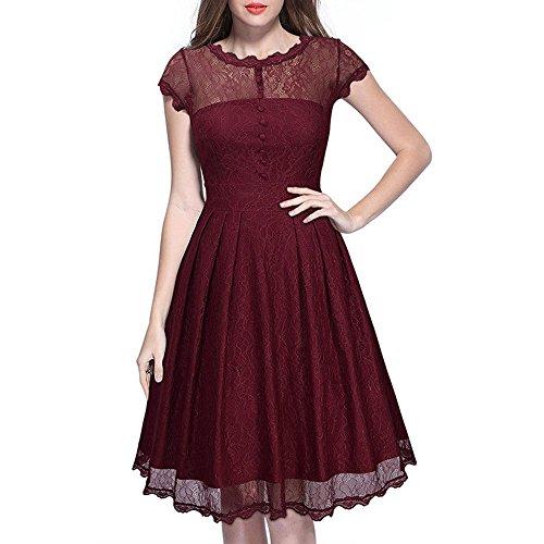 Ecollection Damen Victorian Gothic Renaissance Audrey Hepburn Vintage 50's Classic Dress Swing...
