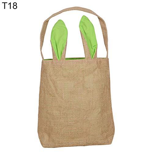 Vimbhzlvigour Ostern schöne Hase Ohren Baumwolle Leinen Einzelgriff Geschenk Handtasche Outdoor Shopping Decor