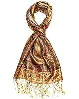 LORENZO CANA - Luxus Herren Pashmina Schal Schaltuch 100% Seide 36 x 160 cm Seidenschal Seidentuch - 7819111