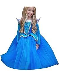 Beauty Top Vestito Abito Principessa Costume Ragazza frozen Bambina Principessa  Vestito Carnevale Tulle Diadema Cosplay Compleanno a072997f9e2