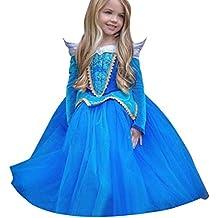 Beauty Top Vestito Abito Principessa Costume Ragazza frozen Bambina  Principessa Vestito Carnevale Tulle Diadema Cosplay Compleanno 5bc1990976a