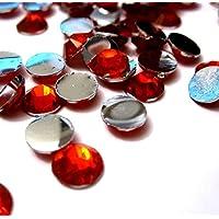 k2-accessories 1000pcs Cabochon Retro Piatto per gemme di strass/resina/biglietti/Scrapbooking/Nail Art–kb0937/2mm rosso brillante