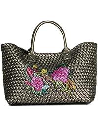 4ef297bd08437 WYBXA Neue Damenhandtasche Mit Großem Fassungsvermögen Damenhandtasche Mit  Blumenmuster Hochwertige Cross-Body-PU-