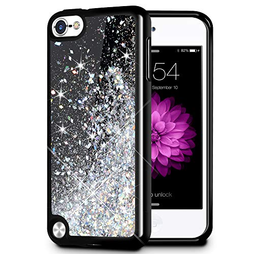 iPod Touch 5/6 Fall, caka iPod Touch 6 Glitter Case [Starry Night Serie] Fashion Bling Flüssigkeit Schwimmende Sparkle Glitzer Girly TPU Bumper Schutzhülle für iPod Touch 5/6 -, Silber - Lila Ipod-touch-fall 5
