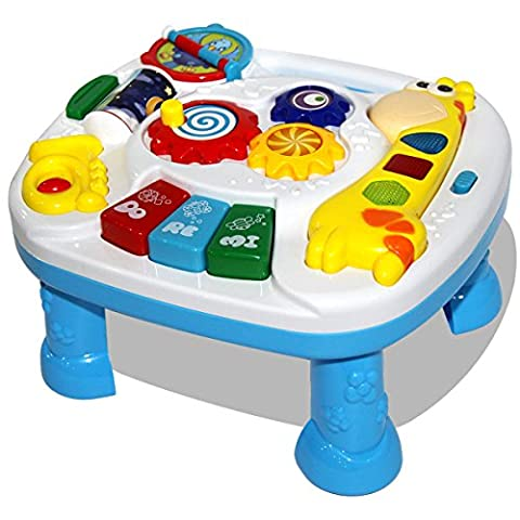 HZY Baby Musical Learning Activity Table with Animal Sound & Song & Light Toddlers Early Educational Development Fawn