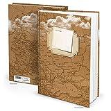 XXL Cuaderno Mapa del Mundo en Blanco Marrón Blanco Libro con título personalizado dura 164vacías blancas en blanco páginas en DIN A4Diseño: alt Vintage Nostalgie Mapa en papel de estraza aspecto Scrapbook libro